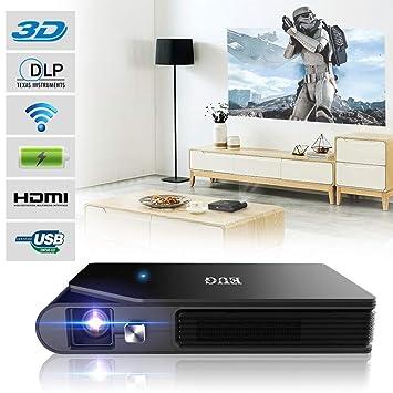 Mini proyector de Bolsillo Soporte 3D 1080P Pequeño proyector HD ...