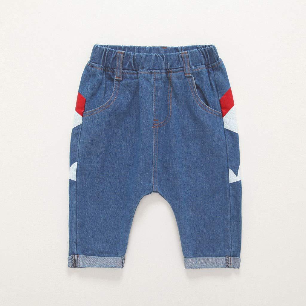 Toddler Baby Kid Boys Shark Long Denim Harem Jean Trousers Pant