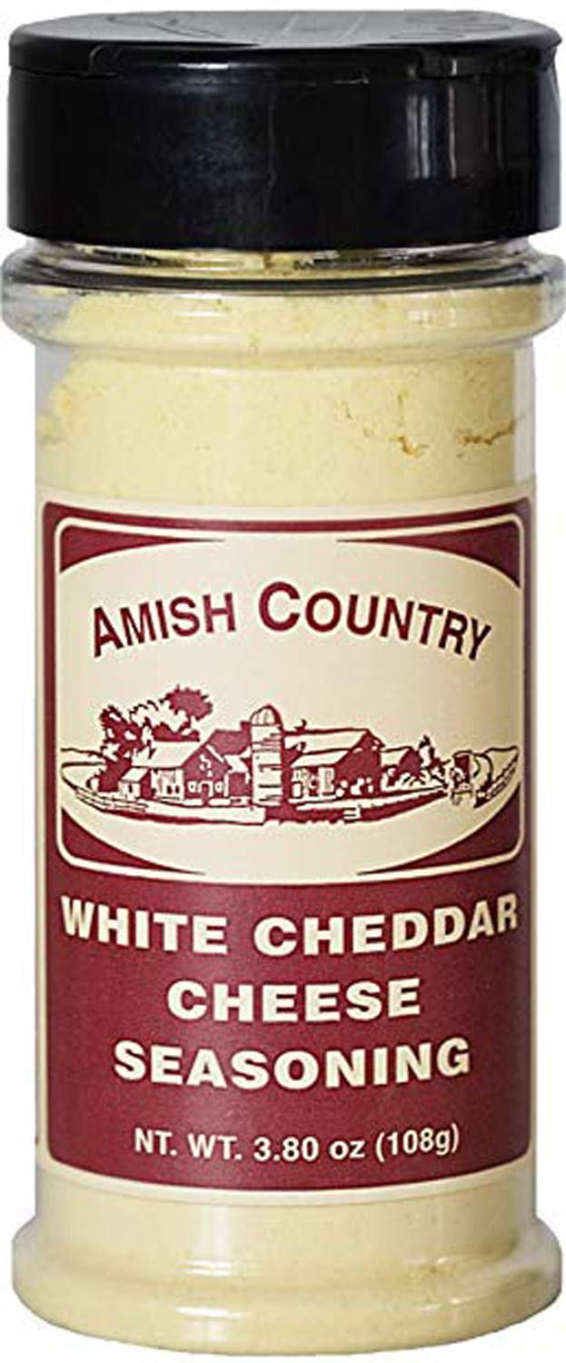 Amish Country Popcorn - White Cheddar Cheese (3.8 Ounce) Popcorn Seasoning - Old Fashioned with Recipe Guide