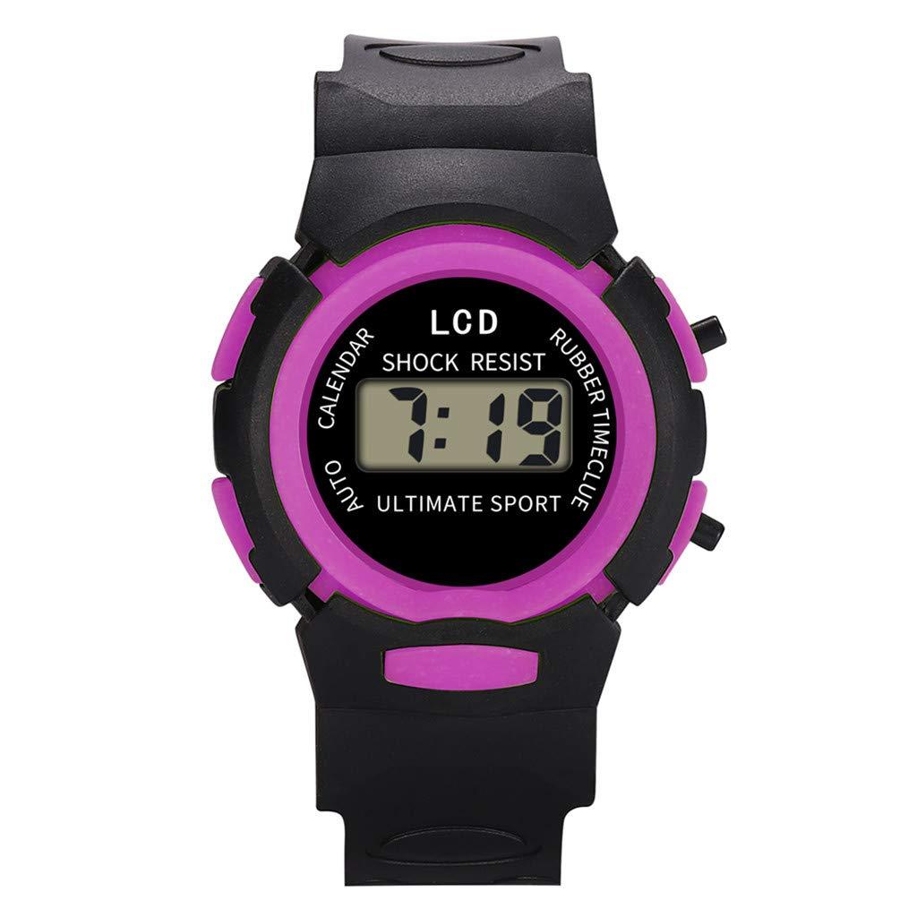Barhalk Kids Analog Digital Wristwatch Round Dial 30M Waterproof Watch Unisex Sport Watches Gift Souvenir for Children' Day Birthday Party