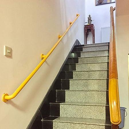 Pasamanos de Escalera Amarilla/Blanca, Barandilla de Escalera de Seguridad para Niños Mayores, Kit de Barandilla de Estilo Industrial de Metal, Pasamanos de Jardín de Piscina: Amazon.es: Hogar