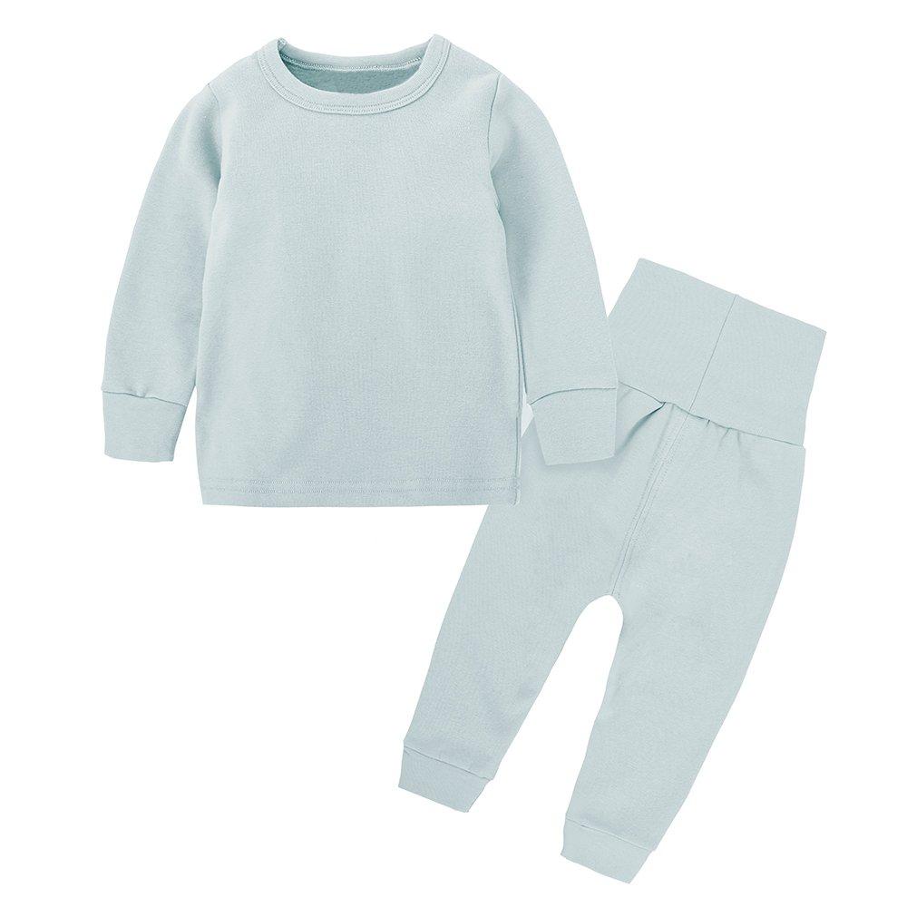 2pcs Set 3M-8T Kids Boys Girls Cotton Long Thermal Underwear Pajama Set