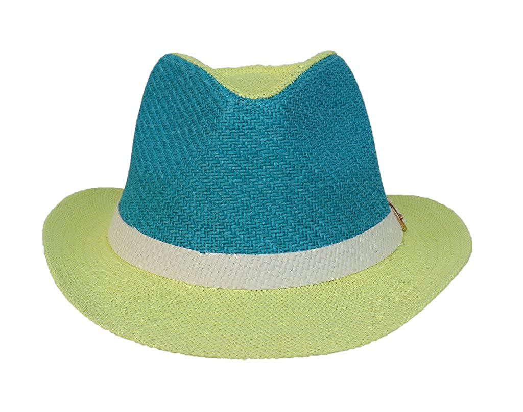 Amazon.com  COMVIP Gangster Italian Mafia Fedora Straw Hats Summer Panama  Sun Jazz Cap Blue  Clothing e855d8d80cd