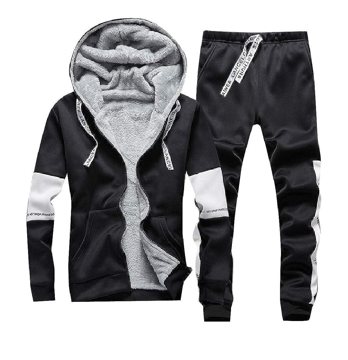 Andopa Cálida Deportes Fleece Hoode invierno chándal traje para ...