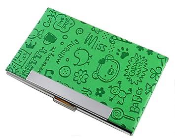 Amazon business card case cute creative credit card holder business card case cute creative credit card holder case green colourmoves
