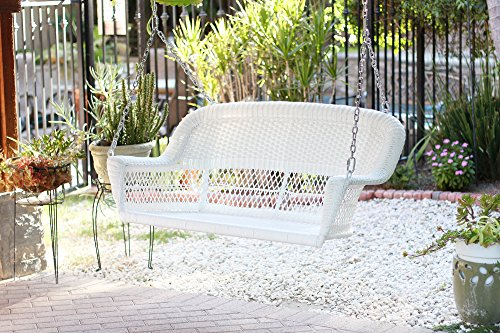 Jeco W00206S-B Resin Wicker, White