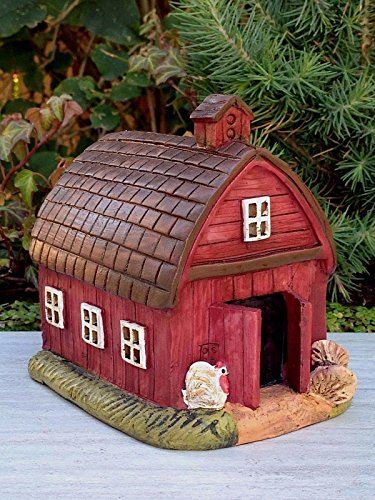 My Fairy Gardens Miniature   Mini Red Farm Barn House   Mini Dollhouse Supply Expressions