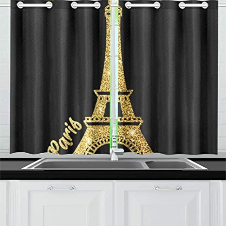 Amazon Com Yumoing Icon Shiny Eiffel Tower Gold Kitchen