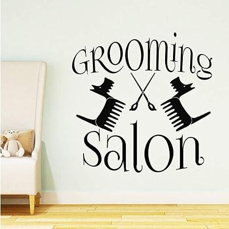 jecswolz Grooming Salon Logo Tatuajes De Pared Tienda De Mascotas ...