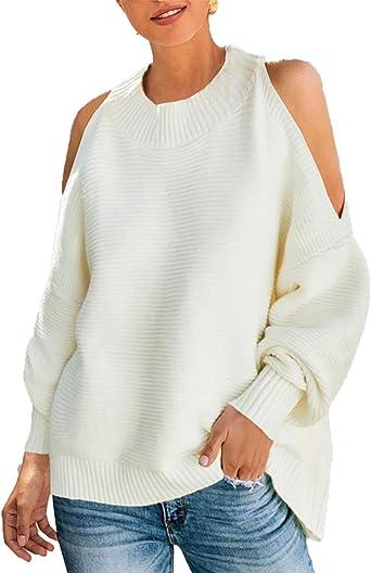 Ladies Rib Knit Oversized Batwing Sleeve Top Jumper Baggy Loose Long Sleeve
