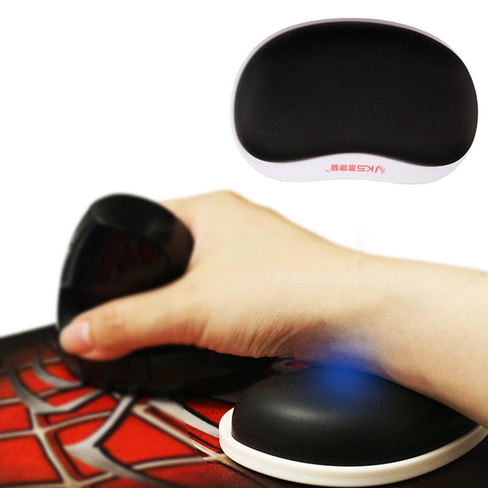 SKYZONAL Wrist Rest Mouse Pad Memory Foam Sliding Rotating Ball Bearing Ergonomic Design SKV3
