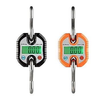 Sue Supply Báscula electrónica portátil para caza, mini báscula digital, sin batería, color negro y naranja negro negro: Amazon.es: Hogar