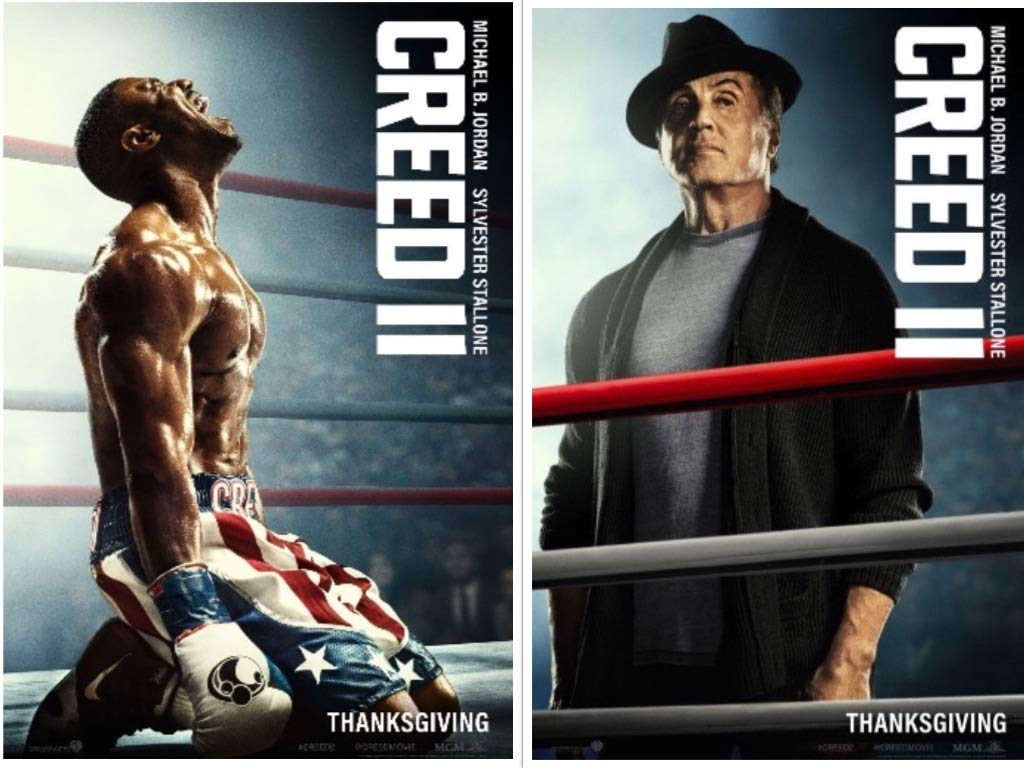 CREED II (2) - 11'x17' D/S Original Promo Movie Poster 2018 Michael B. Jordan Sylvester Stallone