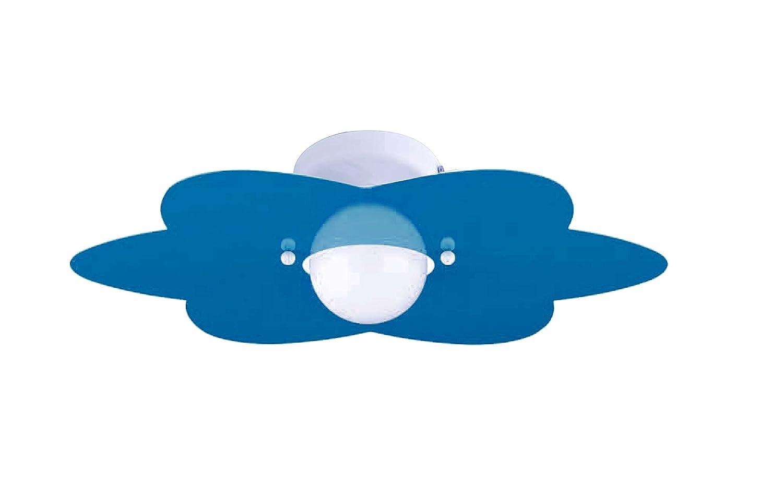 Plafoniera Cameretta Bambini : Plafoniera fiore azzurro per camerette stanzette bambini classe