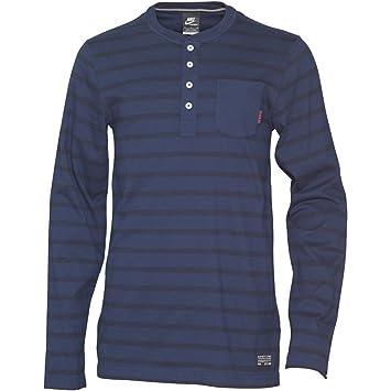 famous brand nice shoes entire collection Nike Herren FC Barcelona Langarm Shirt Bluse Dunkelblau (XL ...