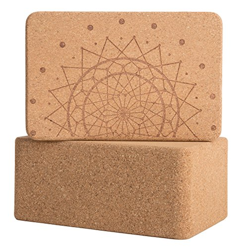 Cork Wood Yoga Blocks