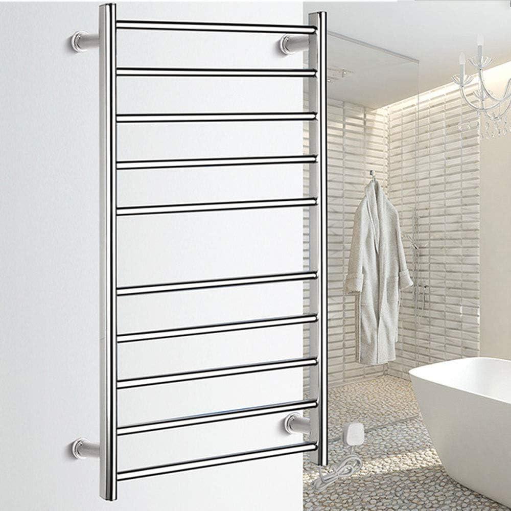 Amazon Com Pinchu Towel Radiator Electric Towel Rail Heating Towel Racks 304 Stainless Steel Bathroom Accessories Drying Holder Warmer Home Kitchen
