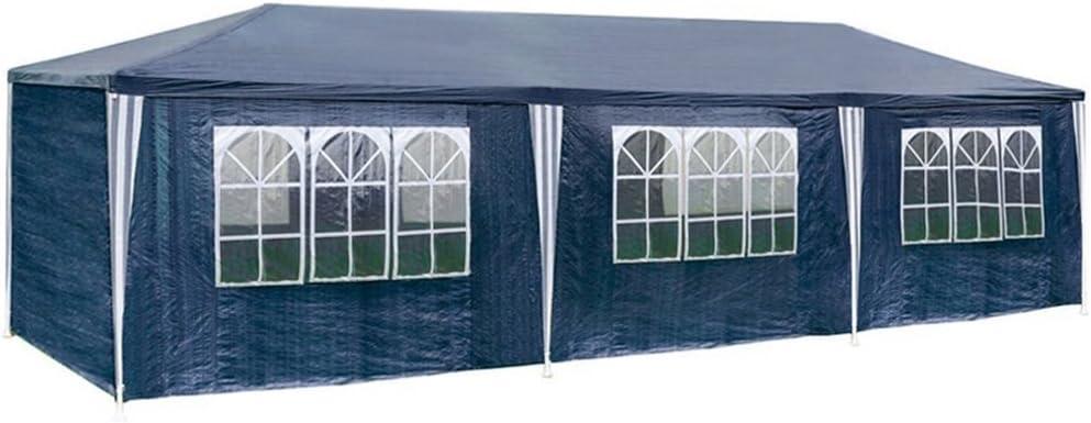 4 finestre MCTECH/® 3 x 6 m Bianco Tenda Esterno Tenda da Giardino Padiglione Tenda Birra Tenda Gazebo con 6 pareti Laterali 2 Porte con Cerniera Copertura PE Impermeabile