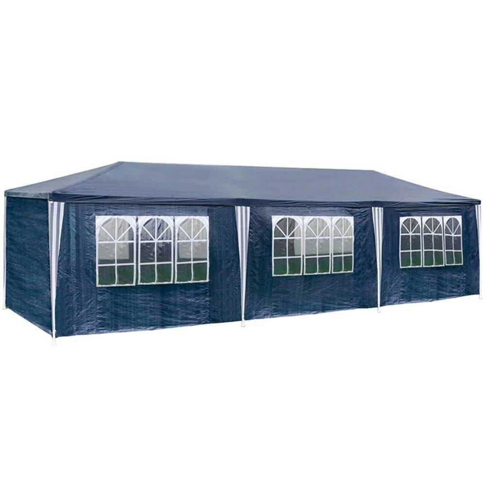 SAILUN 3 x 4 m blu Padiglione da giardino Tenda da giardino Padiglione tenda birra, telone impermeabile PE, 4 pareti laterali, 3 finestre, 1 x porte con cerniera Generic