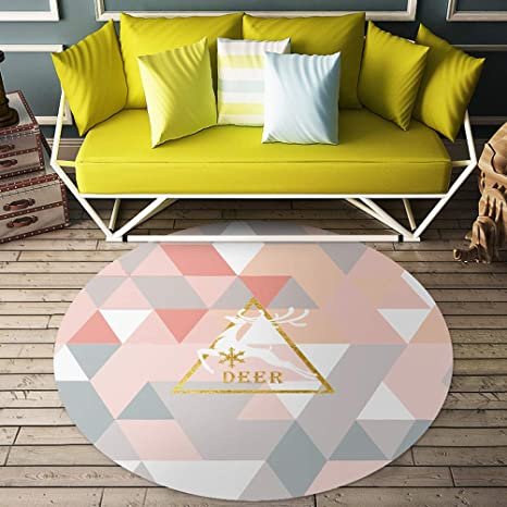 Amazon.com: DZYQ Home Round Net Red Carpet Nordic Style Girl ...