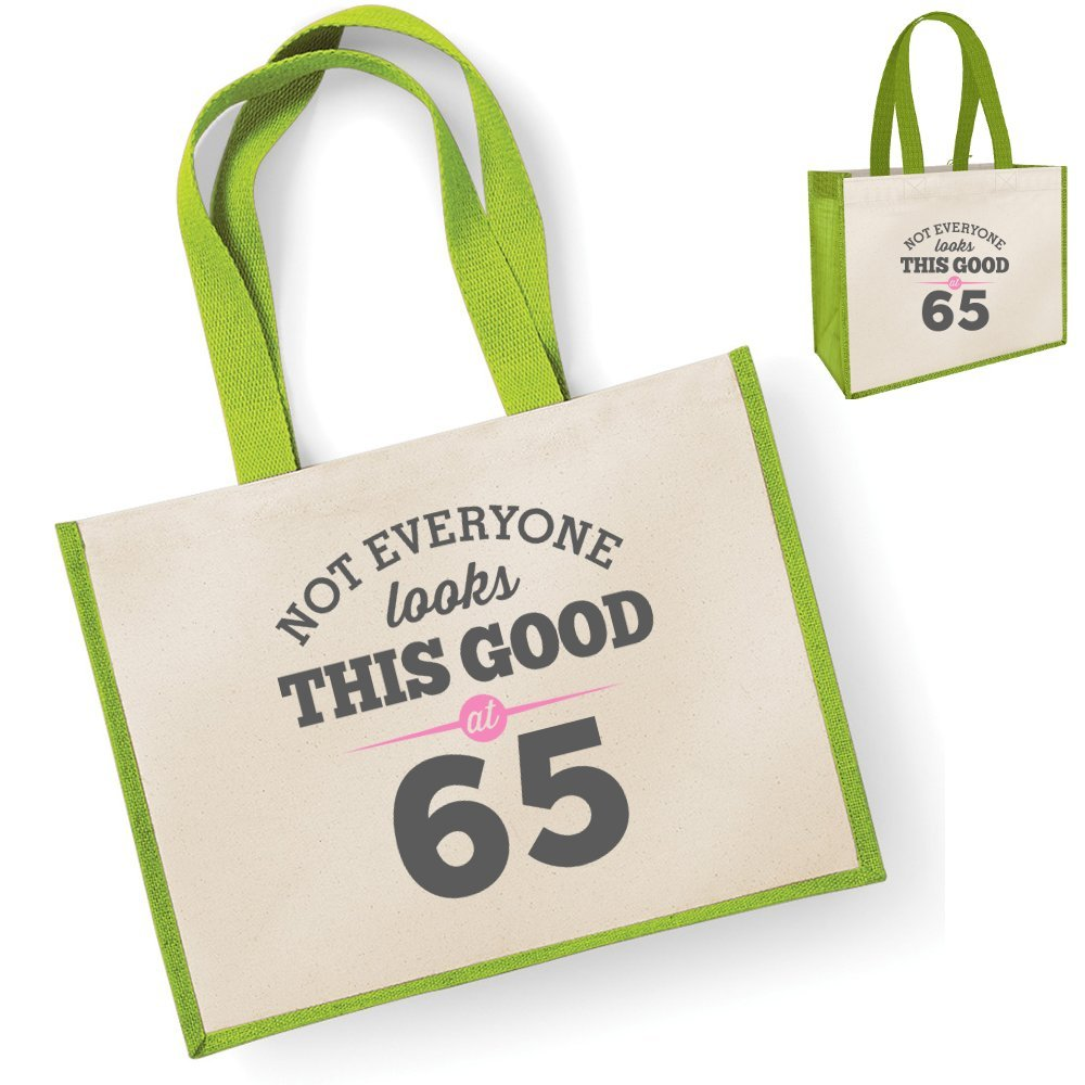 65th Birthday Keepsake Funny Gift Gifts For Women Novelty Ladies Female Looking Good Shopping Bag Present