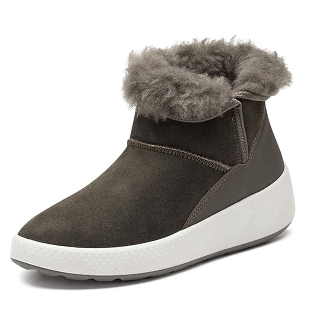 Chaussures de Sport de antidérapantes Chaussures de Sport randonnée imperméables Bottes fourrées fourrées One One Bottes d'hiver Femme Chaussures Fille (Color : Gray, Size : 40) 40|Gray 7dd88f