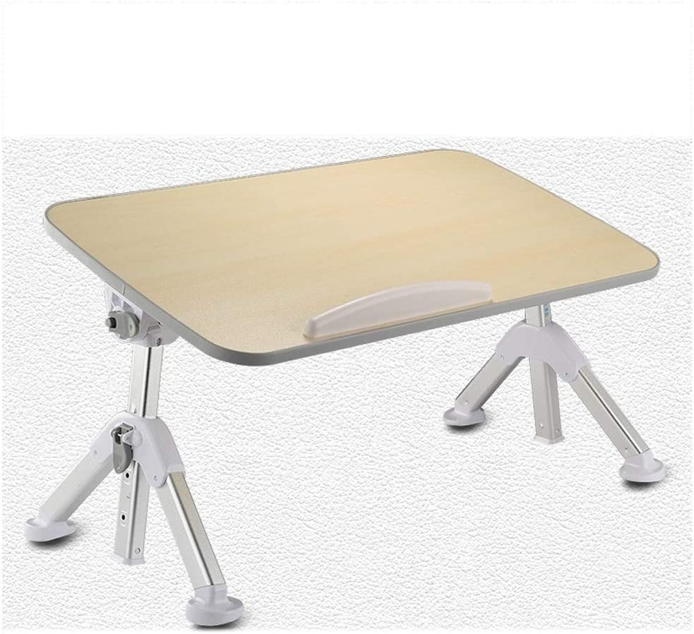 Color : Gray Adjustable Folding Table Office Notebook Table Dormitory Study Desk Single Computer Lift Table Home Lazy Folding Table Bed 14 Inches Tablet Desk