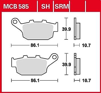 Bremsbelag Trw Organischer Allround Bremsbelag Xl 650 V Transalp Rd11 02 07 Hinten Auto