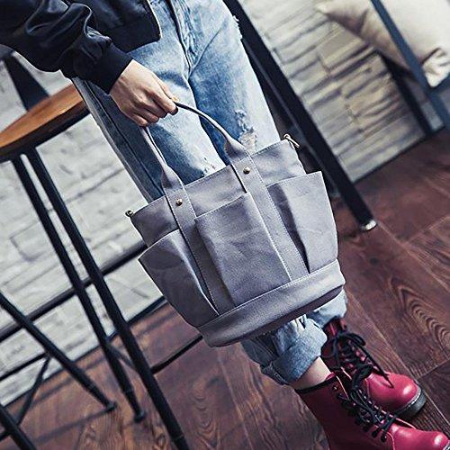 Mounter estilo Gris HD Sintética WSVC Piel de Bags preppy Mujer rZtqZ