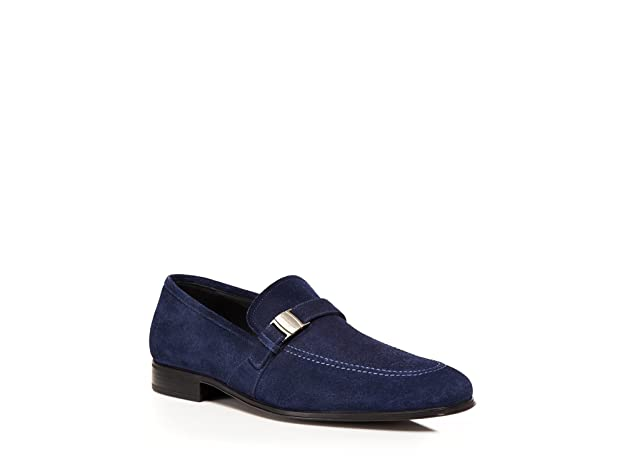 f734827eada Amazon.com  Salvatore Ferragamo Pinot Mens Blue Suede Loafers Shoes Made in  Italy (8 D(M) US)  Shoes
