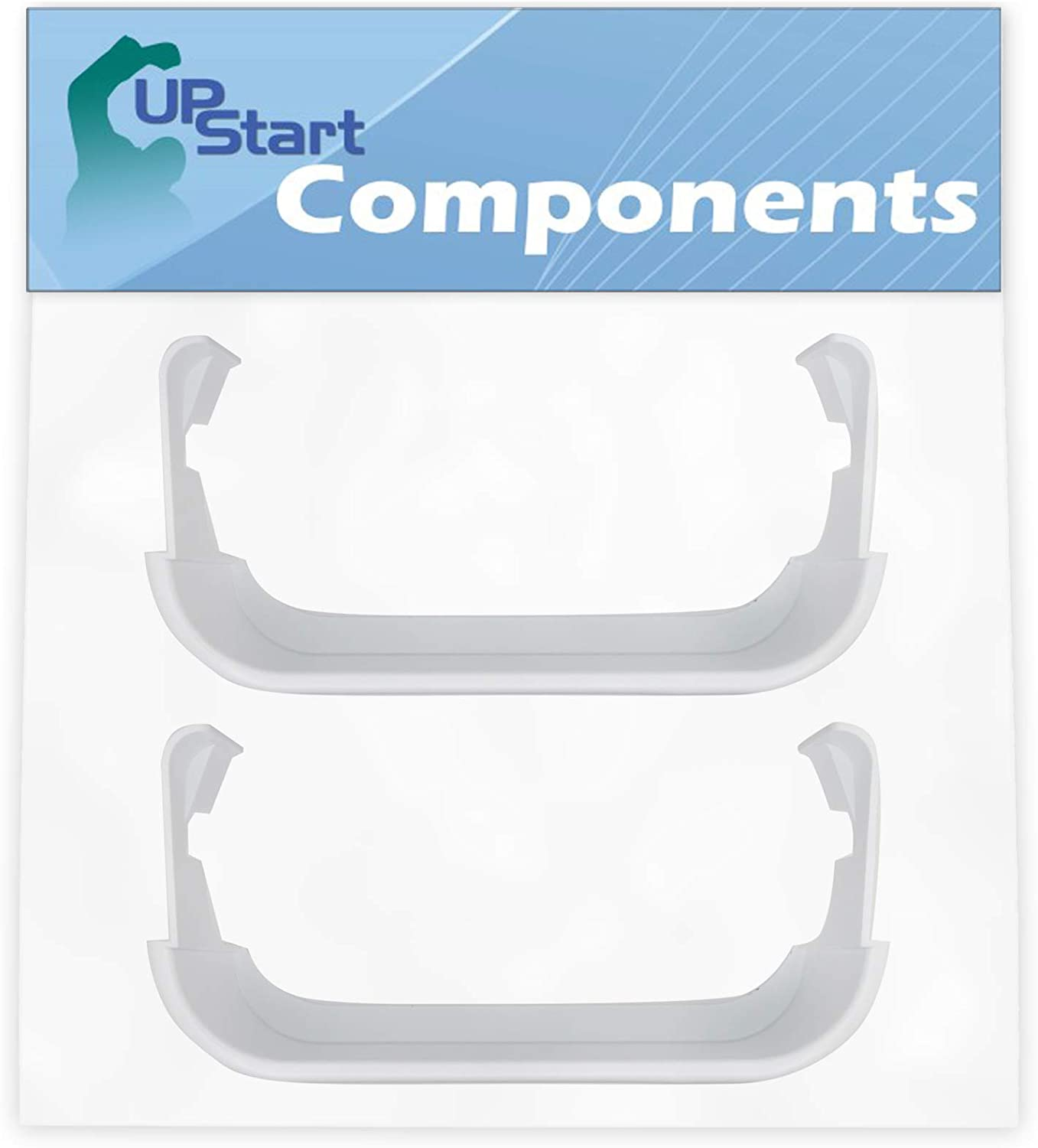 2-Pack 240351601 Refrigerator Freezer Door Bin Side Shelf Replacement for White Westinghouse WRS6W1EW0 Refrigerator - Compatible with 240351601 Door Bin - UpStart Components Brand