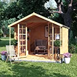 BillyOh 12x8 Lily Tongue and Groove Garden Summerhouse Apex Roof & Felt 12FT x 8FT