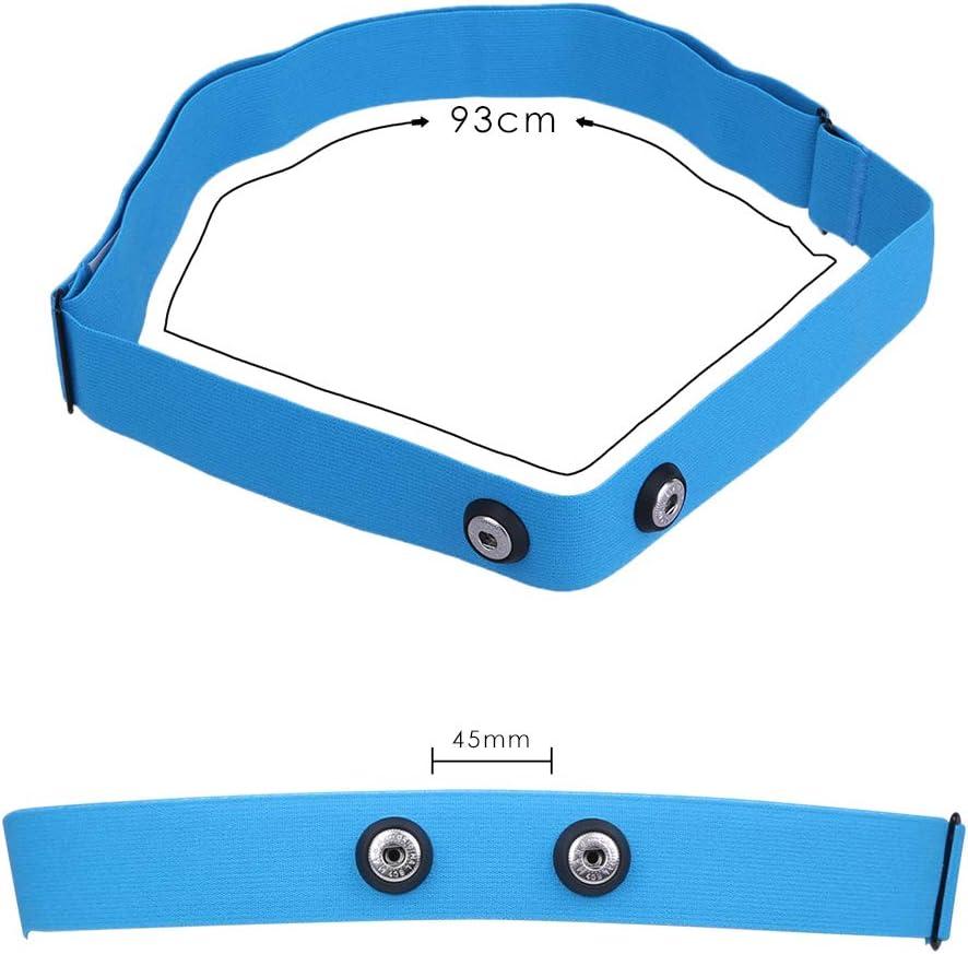 DINGWEN Verstellbarer Brustgurt f/ür Garmin Wahoo Polar Sport Herzfrequenz Monitor