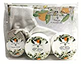 how to soften ca - Foot Scrub Kit,Foot Care Kit for Women & Men With Foot & Hand Scrub,Pumic Stone,Heel Salve,Healing Socks.Paraben Free Foot Care Gift Set for Healthy Feet,Orange Vanilla Scent