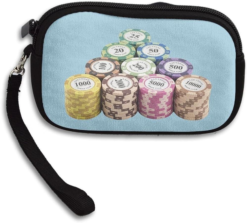 Poker Chip Clip Arts Comfortable Coin Purse Storage Package Wallet Zipper Mini Wallet For Men /& Women