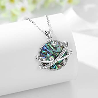 JE3740 Blue Star White Pearl Star Pendant Necklace Celestial Jewelry Layering Necklace  Item No