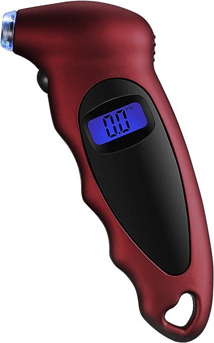 VTIN - Manómetro digital de neumáticos con 4 posiciones, 100 psi ...