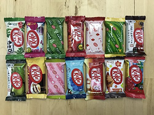 Pkg Blossoms - Japanese Kit Kat Mini Bar 14 pcs , ALL DIFFERENT FLAVORS Assortments