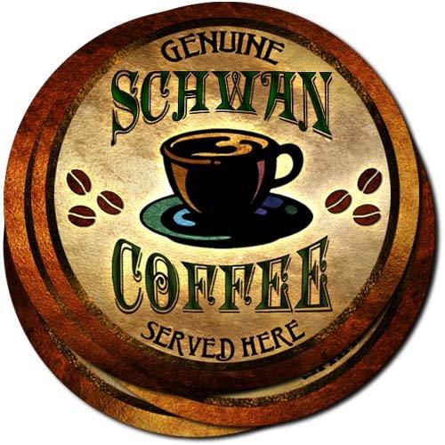 schwan-coffee-neoprene-rubber-drink-coasters-set-of-4