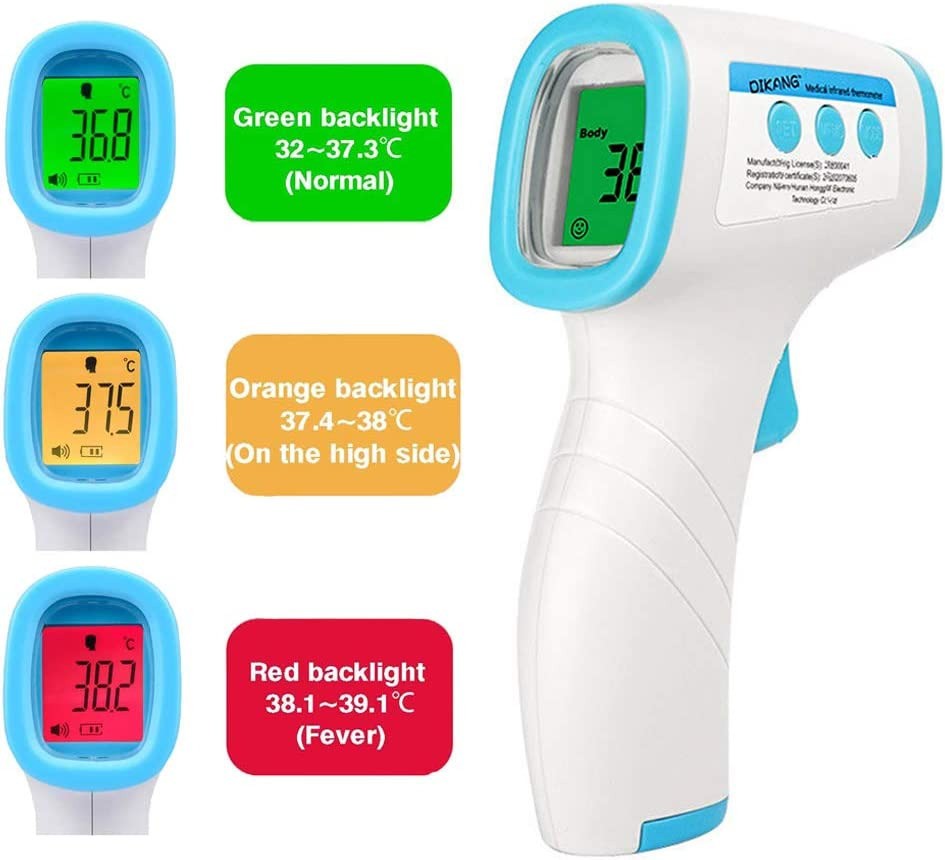 Non Contact Thermometer Digital Thermometer Body Temperature Measurement Approved by CE FDA RoHS HSO Tech