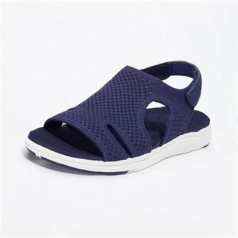 KMZL Gogolot Women Summer Breathable Elastic Sandal, Breathable Wedge Sandals for Women : Sports & Outdoors