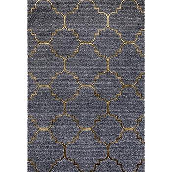 Amazon Com 4518 Gold Moroccan Trellis 5 2x7 2 Area Rug