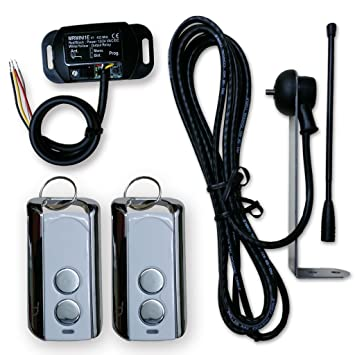 Gate and Garage Door Opener Receiver Kit Extended Long Range Antenna with Two Remote Control 433