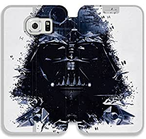 caso del tirón del cuero de Star Wars O8P45I8 Samsung Galaxy S6 funda G7P17Y2 Houdt cubiertas del teléfono celular