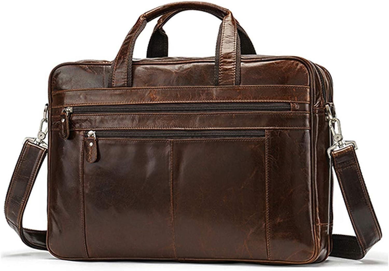 Men Briefcase Bag Genuine Leather Laptop Totes Large Messenger Bag Business Bags For Document