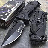 8.25'' USMC MARINES TACTICAL G'STORE SPRING ASSISTED FOLDING KNIFE Blade Pocket