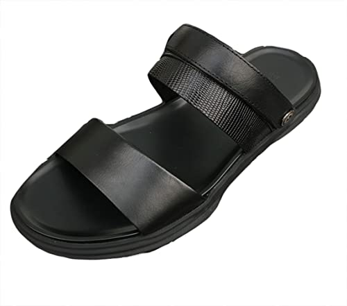 e9e2853aa2e Icegrey Mens Leather Sandals Outdoor Slippers Summer  Amazon.co.uk ...