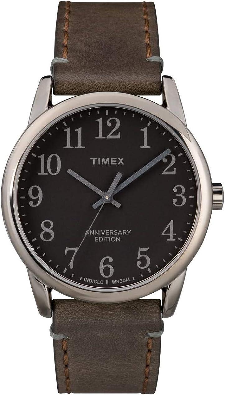 TIMEX - Easy Reader Men Leather Brown Watch - TW2R35800