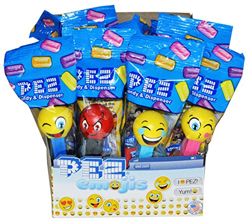 Pez Emoji Candy Dispensers 12 Count