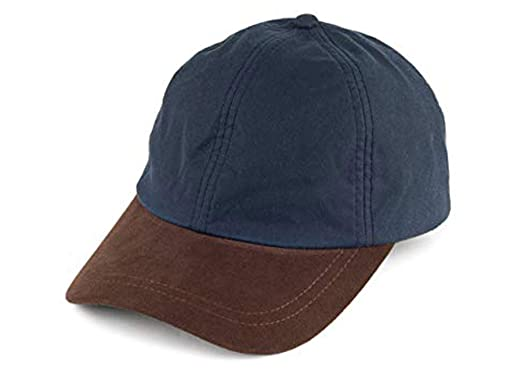 5d525703a0a72 Failsworth Waterproof Waxed Cotton Baseball Cap - Navy at Amazon ...